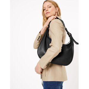 Marks & Spencer Nonchalante handtas van leer Zwart One Size