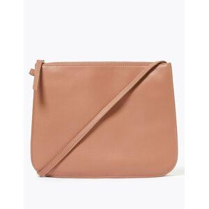 Marks & Spencer Leren crossbody-tas met 3 vakken Melba Blush One Size