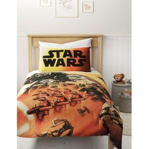 Marks & Spencer Zuiver katoenen beddengoedset met Star Wars-motief Burnt Orange 90 cm