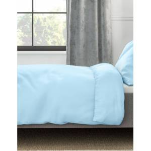 Marks & Spencer Comfortably Cool-dekbedovertrek Powder Blue 180 cm