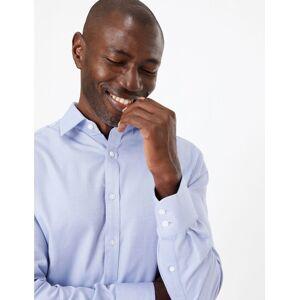 Marks & Spencer Gestreept overhemd van Engels katoen met uitstekende pasvorm Sky Blue 37 cm