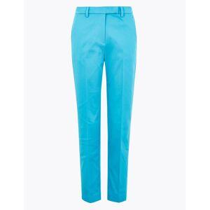 Marks & Spencer Katoenen, slanke Mia-broek op 7/8-lengte Rich Aqua NL 42 - Lang