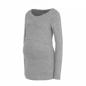Noppies zwangerschap- en voedingstop Lane grijs melange