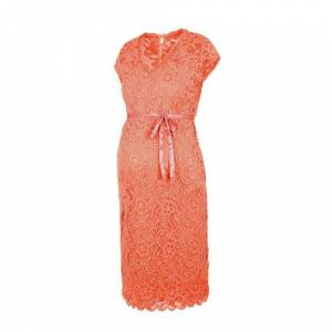 MAMALICIOUS kanten zwangerschapsjurk oranje  - Oranje - Size: Extra Large