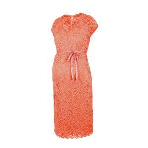 MAMALICIOUS kanten zwangerschapsjurk oranje  - Oranje - Size: Small