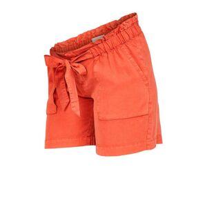 MAMALICIOUS low waist loose fit short Bethune oranje  - Oranje - Size: Small
