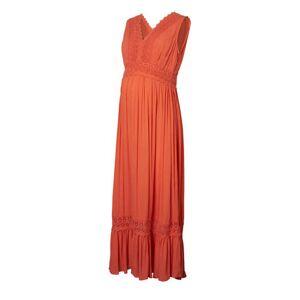 MAMALICIOUS zwangerschapsjurk Florence met kant oranje  - Oranje - Size: Medium