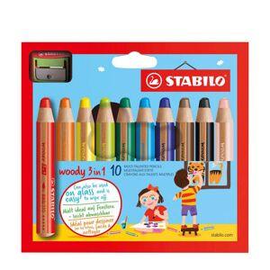 Stabilo Woody potloden incl. puntenslijper (10 st.)  - Size: 000