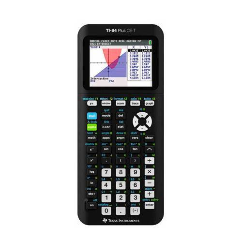 Texas Instruments TI-84 Plus CE-T Rekenmachine Texas Instruments TI-84 plus CE-T  - Zwart