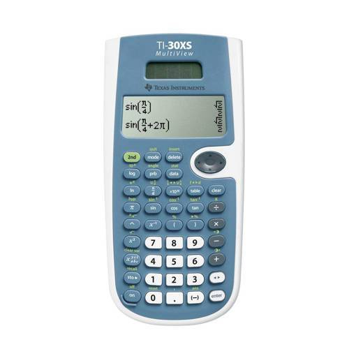 Texas Instruments TI-30X Solar Multiview TEXAS INSTRUMENTS TI-30XS MULTIVIEW  - wit, blauw