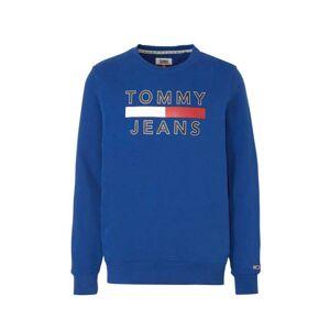 Tommy Jeans sweater met printopdruk blauw