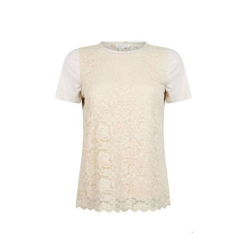 Tramontana top met kant champagne  - Champagne