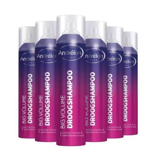 Andrelon Pink Big Volume droogshampoo - 6x250 ml