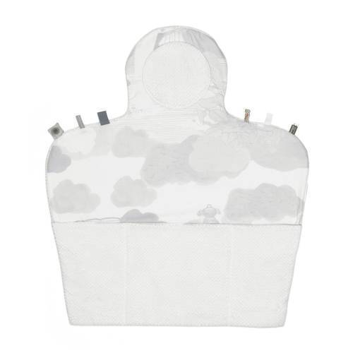 Snoozebaby Easy Changing verschoonmatje star white  - Wit