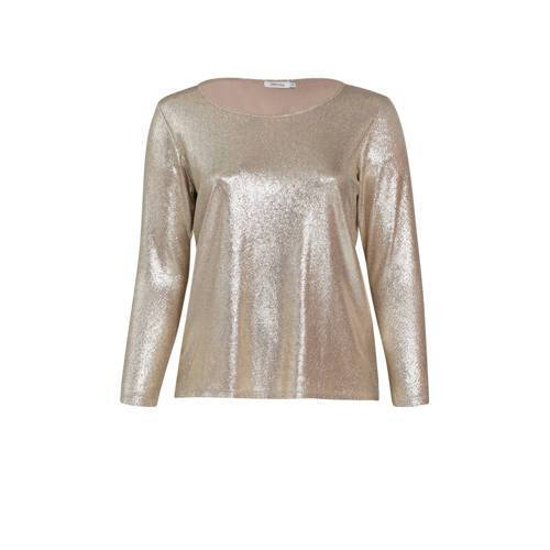 Paprika top met glitters champagne  - Champagne