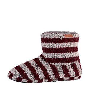 Apollo pantoffels rood/grijs
