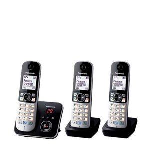 Panasonic KX-TG6823 huistelefoon  - Zwart - Size: 000