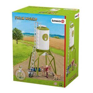 Schleich Farm World voedersilo met dieren 41429