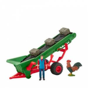 Schleich Farm World hooi transportband met boer 42377