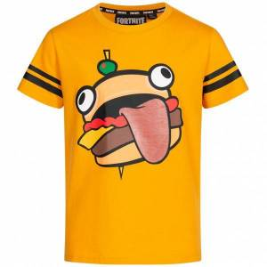 Fortnite Durr Burger Kinderen T-shirt 6-030 / 2697  - oranje - Size: 140