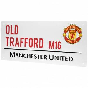Premier League Manchester United FC Fan Straatnaambord Street Sign WDEPLSSMNU  - wit - Size: One Size