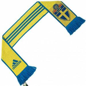 Adidas Zweden SVFF adidas 3 Stripes Scarf Fansjaal AY4382  - geel - Size: One Size