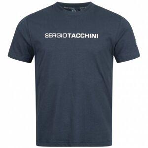 Sergio Tacchini Robin Herren T-Shirt 37385-002  - blauw - Size: Small