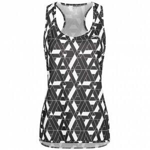 Slazenger Ennis V2 Vest Dames Sportshirt S047706A3-WHT  - zwart - Size: Extra Small