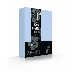 Romanette Hoeslaken Stretch Royal Comfort Jersey Blue
