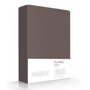 Romanette FLANEL Laken Taupe - 150x250 cm