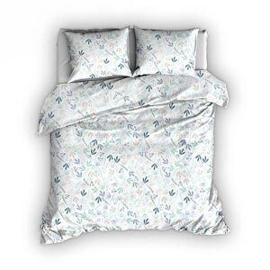 Romanette Dekbedovertrek Fay Blauw-Mint - 240x200/220 cm   Lits-jumeaux