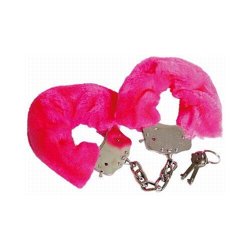 Fluffy Bont Handboeien Donker Roze.