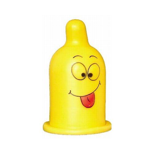 Gele decoratie Condoomlamp