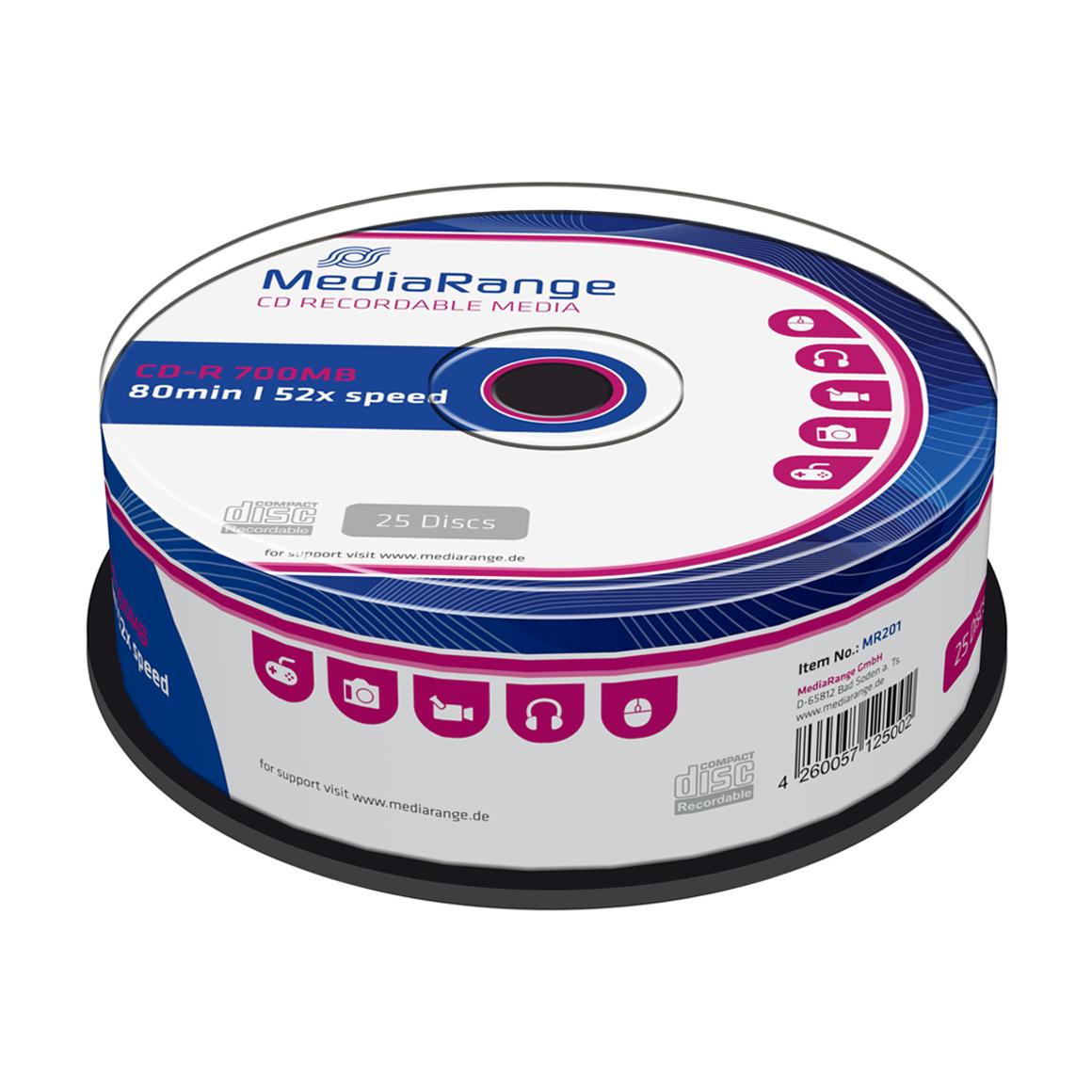 MediaRange Printable CD-R Schijv...