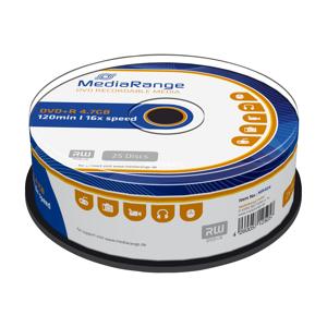 MediaRange DVD+R 4.7 GB Silver Inkjet Printable 25 stuks