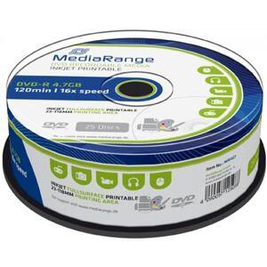 MediaRange DVD-R 4.7 GB Silver Inkjet Printable 25 stuks