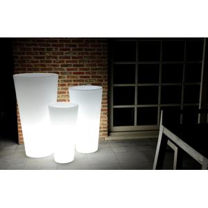Funnylights Oplaadbare Bloempot Rond 60 cm LED RGB incl. Afstandsbediening - Funnylights Gengar Tuinlamp
