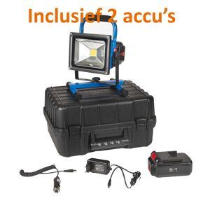 Crius Oplaadbare LED Bouwlamp 20 Watt met 2 accu's en 2 adapters + koffer - Crius