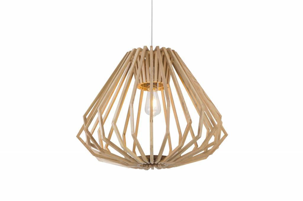 Madera Hanglamp Hout Houtkleur 6...