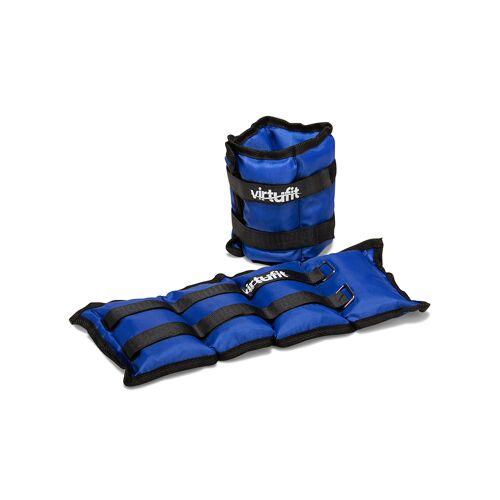 VirtuFit Verstelbare Enkelgewichten / Polsgewichten 2 x 2 kg - Nylon - Blauw