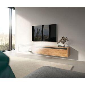 DELIFE Wandmontage voor Tv-meubels Set van 2 stuks wit gepoedercoat