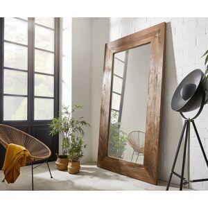 DELIFE Wandspiegel Alban 245x135 cm natuur Exotic Wood