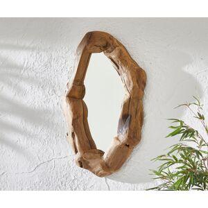 DELIFE Spiegel Dalano 62x96 cm natuur gerecycled teak oval