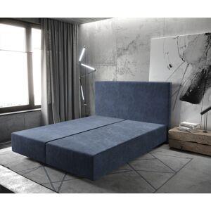 DELIFE Boxspring frame Dream-Well 160x200 cm Marineblauw Mikrofaser