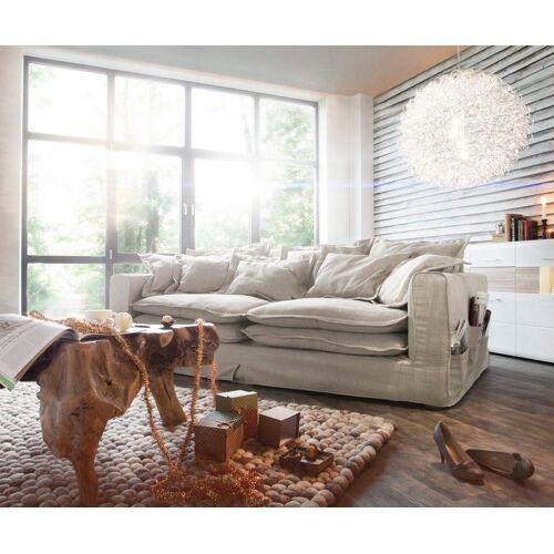 DELIFE Hoezenbank Noelia 240x145 cm ivoor met kussens