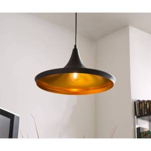 DELIFE Hanglamp Ginevera 35 cm zwart mat aluminium