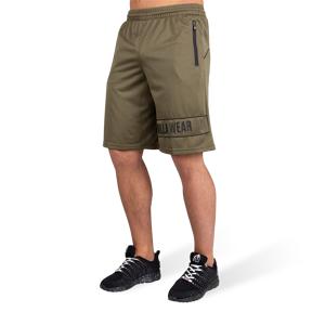 Gorilla Wear Branson Shorts - Zwart/Legergroen - XL
