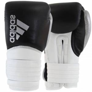 Adidas Hybrid 300 (Kick)Bokshandschoenen - Zwart/Wit/Zilver - 16 oz