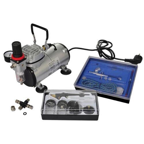 vidaXL Airbrush-compressorset met 2 pistolen