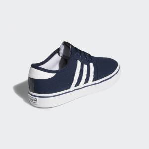 adidas Seeley Schoenen  - Kinderen - Collegiate Navy / Cloud White / Cloud White - Grootte: 35 1/2,36,36 2/3,37 1/3,38,38 2/3,39 1/3